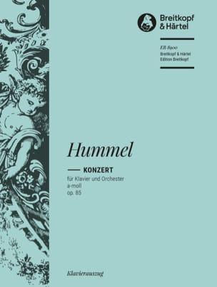 Concerto pour piano en la mineur op. 85 HUMMEL Partition laflutedepan