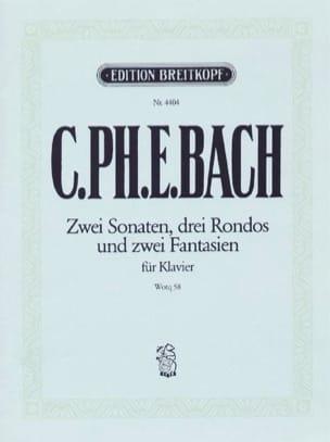 Carl-Philipp Emanuel Bach - 2 Sonatas, 3 Rondos and 2 Fantasies Wq 58 - Partition - di-arezzo.com