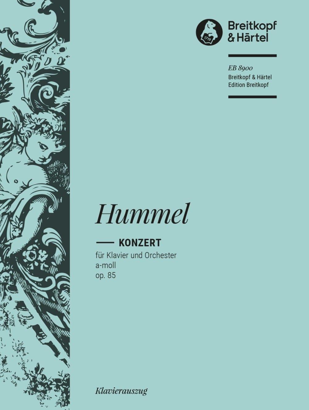 Concerto pour piano en la mineur op. 85 - HUMMEL - laflutedepan.com