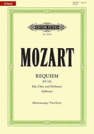 Requiem MOZART Partition Chœur - laflutedepan