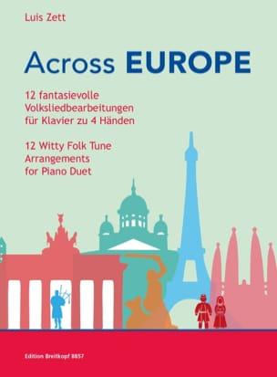 Across Europe. 4 mains Partition Piano - laflutedepan