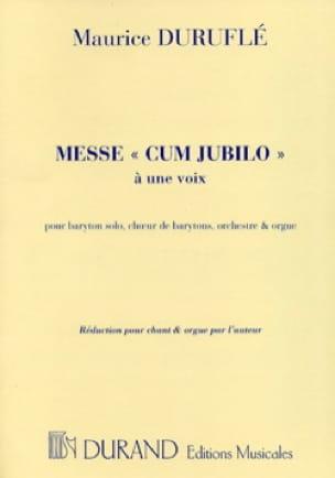 Messe Cum Jubilo Opus 11 - DURUFLÉ - Partition - laflutedepan.com