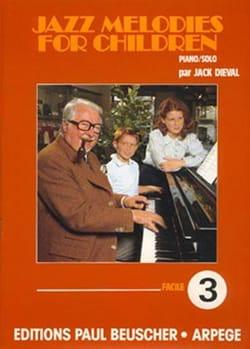Jazz Melodies For Children - Volume 3 Jack Dieval laflutedepan