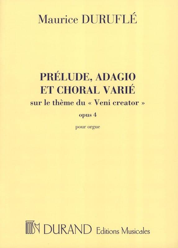 Prélude, Adagio et Choral Varié Opus 4 - DURUFLÉ - laflutedepan.com