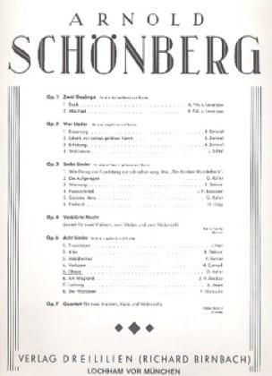Ghasel Op. 6-5 - SCHOENBERG - Partition - Mélodies - laflutedepan.com