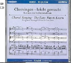 Requiem. CD Ténor CHOEUR VERDI Partition Chœur - laflutedepan