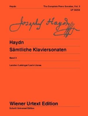 Sonates Pour Piano Volume 3. HAYDN Partition Piano - laflutedepan