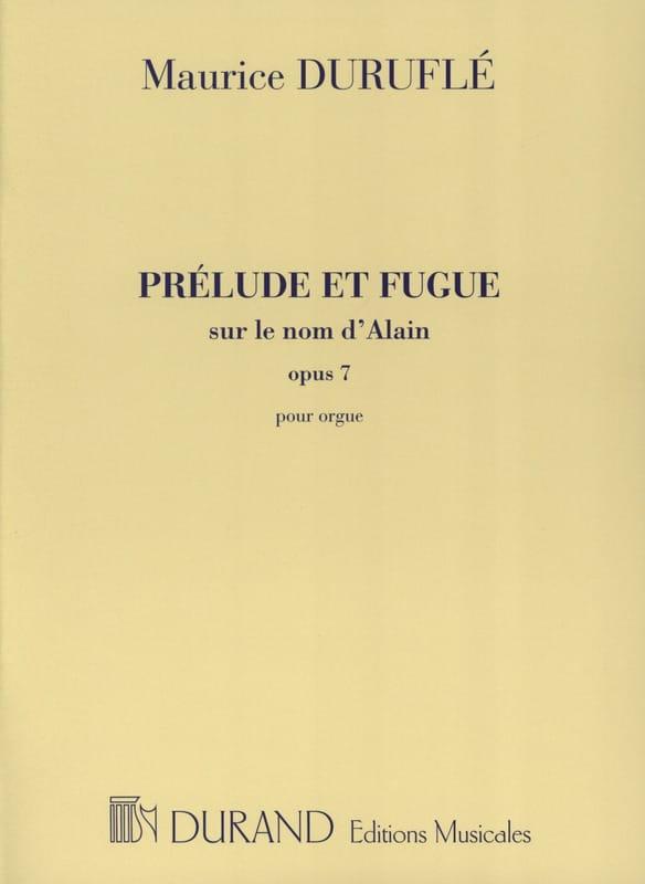 Prélude et Fugue Opus 7 sur le Nom d' Alain - laflutedepan.com
