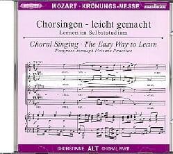 Krönungs-Messe. KV 317 CD Alto MOZART Partition Chœur - laflutedepan