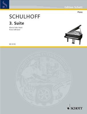 Suite N°3 1926 Erwin Schulhoff Partition Piano - laflutedepan