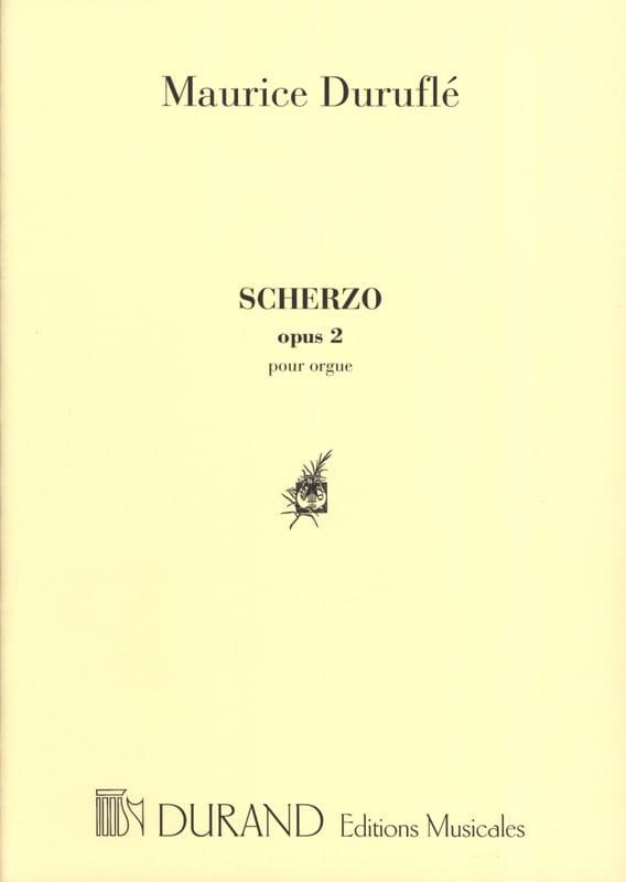 Scherzo. Opus 2 - DURUFLÉ - Partition - Orgue - laflutedepan.com