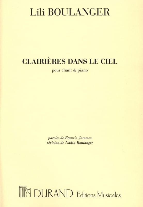 Clairières Dans le Ciel - Lili Boulanger - laflutedepan.com
