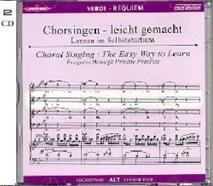 Requiem. CD Alto CHOEUR - VERDI - Partition - Chœur - laflutedepan.com