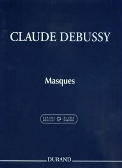 Masques DEBUSSY Partition Piano - laflutedepan