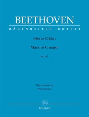 Messe En Ut op. 86 BEETHOVEN Partition Chœur - laflutedepan