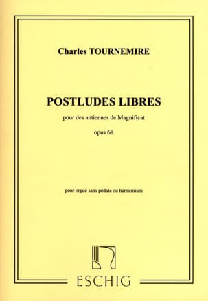 Postludes Libres Opus 68. Charles Tournemire Partition laflutedepan