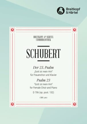 SCHUBERT - Psalm 23 D 706 Opus Post 132 - Partition - di-arezzo.com