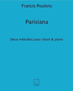 Parisiana POULENC Partition Mélodies - laflutedepan