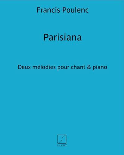 Parisiana - POULENC - Partition - Mélodies - laflutedepan.com