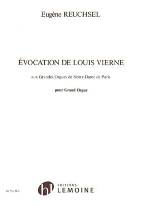 Evocation de Louis Vierne Eugène Reuchsel Partition laflutedepan