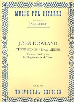 3 Lieder DOWLAND Partition Guitare - laflutedepan