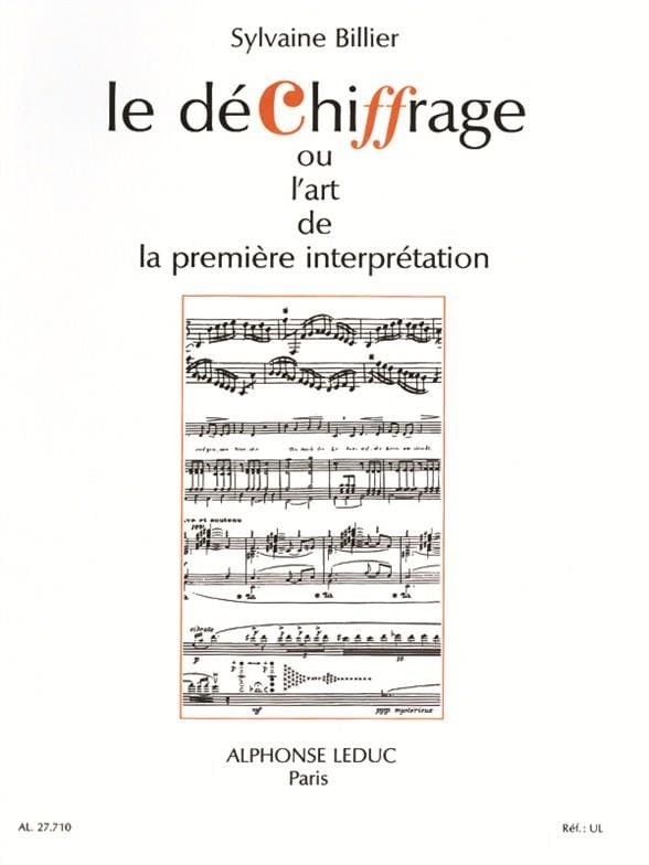 Le Déchiffrage - Sylvaine Billier - Partition - laflutedepan.com