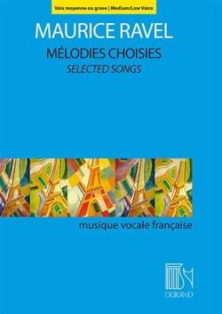 Mélodies choisies. Voix moyenne ou grave RAVEL Partition laflutedepan