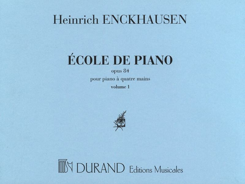 Ecole Du Piano 4 Mains Opus 84 - Volume 1 - laflutedepan.com