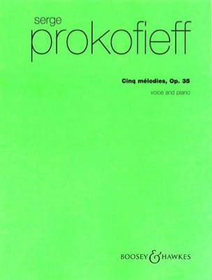 5 Mélodies Opus 35 PROKOFIEV Partition Pédagogie - laflutedepan