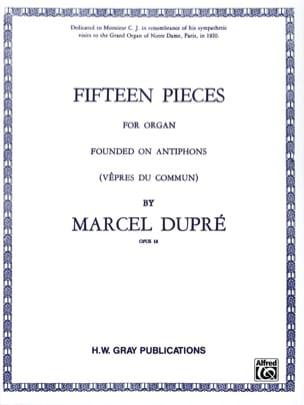 15 Pièces Opus 18 DUPRÉ Partition Orgue - laflutedepan