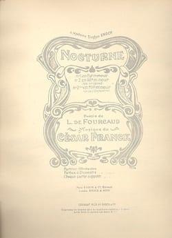 Nocturne n° 2 FRANCK Partition Mélodies - laflutedepan