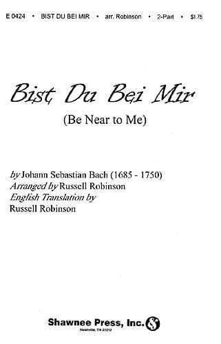 Bist Du Bei Mir - BACH - Partition - Duos - laflutedepan.com