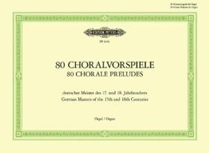 80 Préludes de Chorals 17 & 18 Eme Siècles Partition laflutedepan