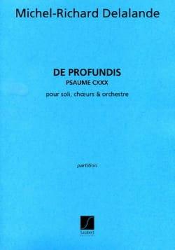 De Profundis Michel-Richard de Lalande Partition Chœur - laflutedepan