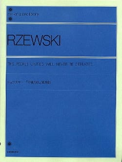 The People United Will Never Be Defeated Frederic Rzewski laflutedepan