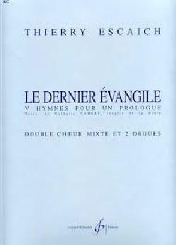 Le Dernier Evangile Thierry Escaich Partition Chœur - laflutedepan