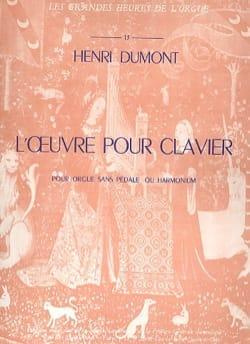 L'Oeuvre Pour Clavier Henry Dumont Partition Orgue - laflutedepan