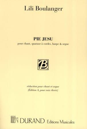 Pie Jesu. Voix Haute Lili Boulanger Partition Mélodies - laflutedepan