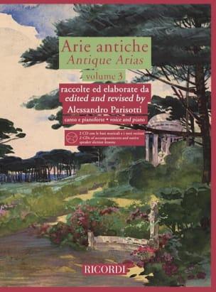 Arie Antiche Volume 3 + 2 CD Alessandro Parisotti laflutedepan