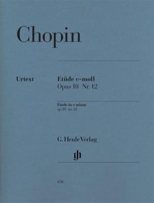 Etude en ut mineur Opus 10-12 Révolution CHOPIN Partition laflutedepan