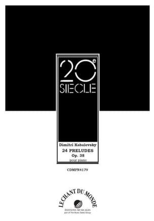 24 Préludes Opus 38 KABALEVSKY Partition Piano - laflutedepan