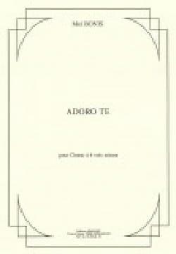 Adoro Te op. 150 Mel Bonis Partition Chœur - laflutedepan
