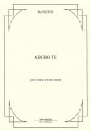 Adoro Te op. 150 - Mel Bonis - Partition - Chœur - laflutedepan.com