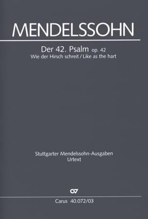 Der 42. Psalm. Wie Der Hirsch Schreit MENDELSSOHN laflutedepan