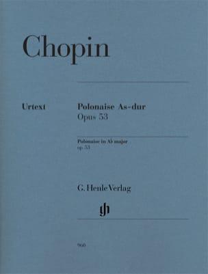 Polonaise en La bémol majeur Opus 53 CHOPIN Partition laflutedepan