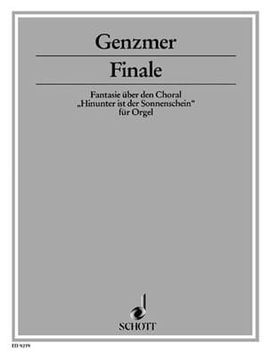 Finale Harald Genzmer Partition Orgue - laflutedepan