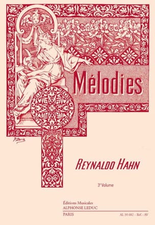 Mélodies Volume 3 Reynaldo Hahn Partition Mélodies - laflutedepan