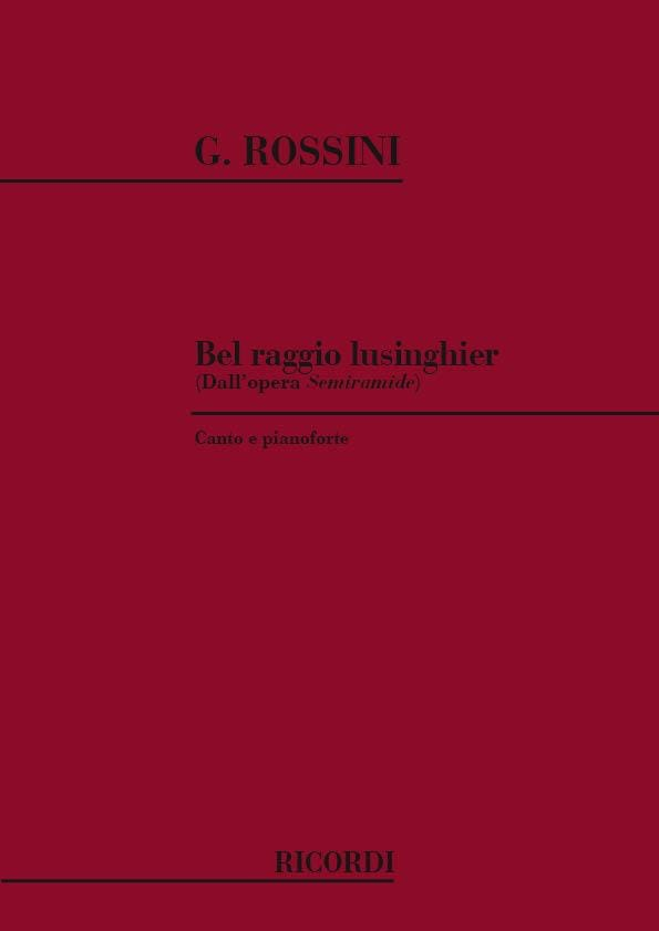 Bel Raggio Lusinghier. Semiramide - ROSSINI - laflutedepan.com