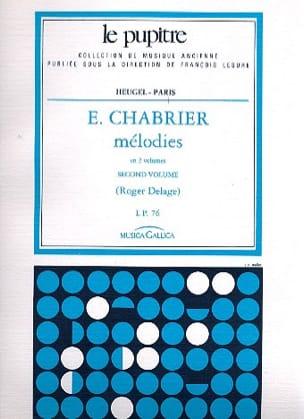 Mélodies. Volume 2 Chabrier Emmanuel - Delage Roger laflutedepan