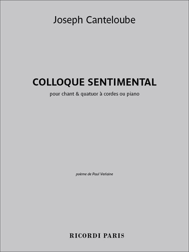 Colloque Sentimental - Joseph Marie Canteloube - laflutedepan.com